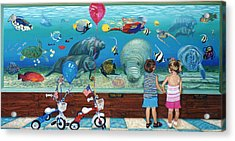 Manitee Aquarium With My Twins Acrylic Print