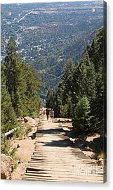 Manitou Springs Pikes Peak Incline Acrylic Print