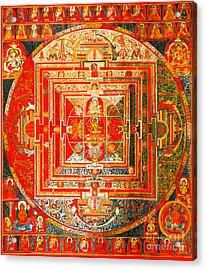 Manjuvara Thangka Mandala Acrylic Print