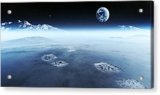 Mankind Exploring Space Acrylic Print by Johan Swanepoel