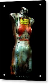 Acrylic Print featuring the painting Mannequin Graffiti by Kim Gauge