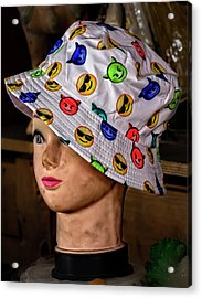 Mannequin Head And Hat Acrylic Print by Robert Ullmann