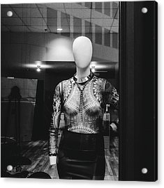 Mannequin In Window Acrylic Print by Dylan Murphy