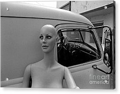 Manniquin And Old Truck Acrylic Print by Arni Katz