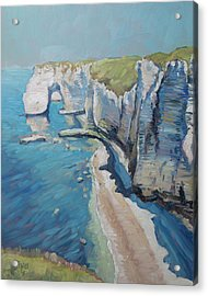 Manneport, The Cliffs At Etretat Acrylic Print