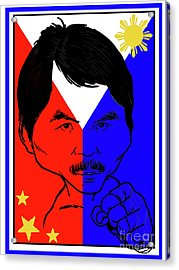 Manny Pacquiao Iron Fist Acrylic Print by Stanley Slaughter Jr
