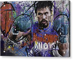 Manny Pacquiao Acrylic Print by Richard Day