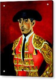 Manolete  Acrylic Print by Manuel Sanchez