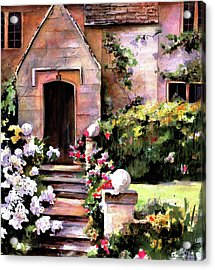 Acrylic Print featuring the painting Manor House by Marti Green