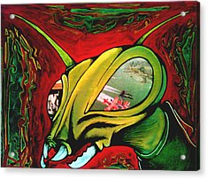 Mantis Acrylic Print by Jeff DOttavio