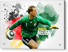 Manuel Neuer Acrylic Print by Semih Yurdabak