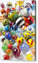 Many Beautiful Marbles Acrylic Print by Garry Gay