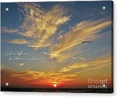 Many Colored Sunset Acrylic Print by John Groeneveld