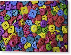 Many Colorful Buttons Acrylic Print