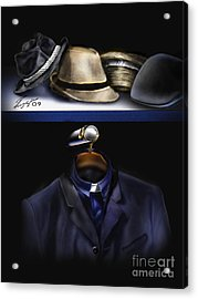 Many Hats One Collar Acrylic Print by Reggie Duffie
