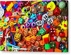 Many Things From The Drawer Acrylic Print by Garry Gay
