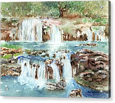 Many Waterfalls Acrylic Print