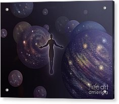 Acrylic Print featuring the painting Many Worlds by Amyla Silverflame