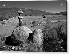 Manzanar Reservoir Water Monument Acrylic Print by Rick Pisio
