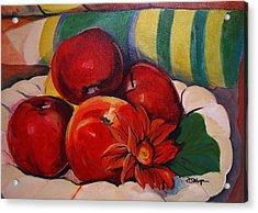 Manzanas Acrylic Print by Diana Moya