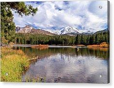 Acrylic Print featuring the photograph Manzanita Lake - Mount Lassen by James Eddy