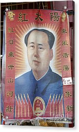 Mao Zedong Hanging Vancouver Chinatown Acrylic Print by John  Mitchell