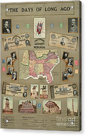 Map: Confederate States Acrylic Print by Granger