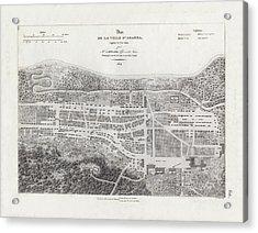 Map Of Agana Village Guam Acrylic Print