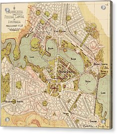 Map Of Canberra 1913 Acrylic Print