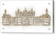 Map Of The Castle Chambord Acrylic Print by Anton Kalinichev