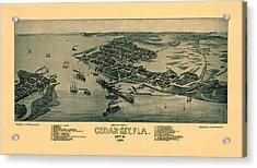 Map Of Cedar Key 1884 Acrylic Print