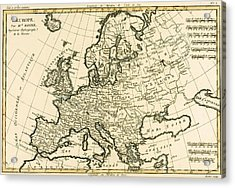 Map Of Europe Acrylic Print by Guillaume Raynal