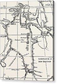 Map Of Hudson Bay Acrylic Print by Henry Ellis