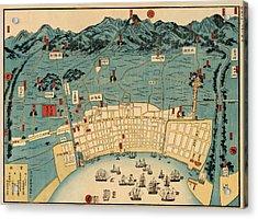 Map Of Kobe 1868 Acrylic Print