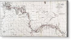 Map Of Livingstones Route Across Acrylic Print