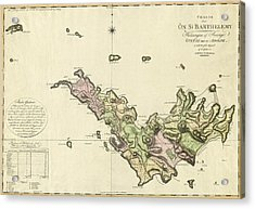 Map Of Saint Barts 1801 Acrylic Print