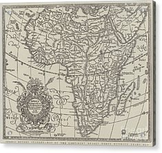 Map Of The Continent Of Africa Nearly Three Hundred Years Old Acrylic Print by English School