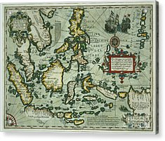 Map Of The East Indies Acrylic Print by Dutch School
