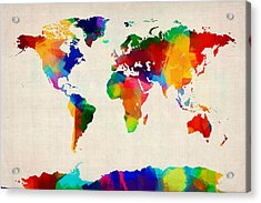 Map Of The World Map Acrylic Print