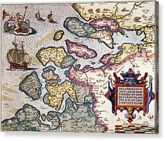 Map Of Zeeland Acrylic Print by Abraham Ortelius