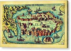 Map Seaport Acrylic Print