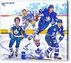 Maple Leafs Thru The Ages Acrylic Print by Brian Child