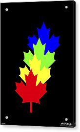 Maple Leaves Acrylic Print by Asbjorn Lonvig
