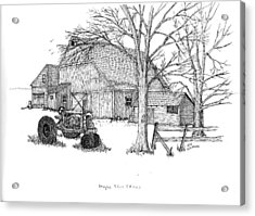 Acrylic Print featuring the drawing Maple Tree Farm by Jack G  Brauer