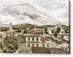 Mapping Trinidad Acrylic Print