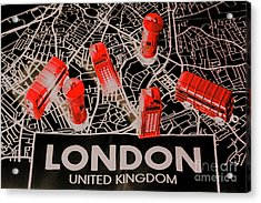 Maps From London Town Acrylic Print