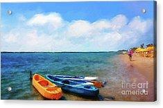 Mar Beach Acrylic Print by Shirley Stalter