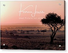 Acrylic Print featuring the photograph Mara Pink Dawn  by Karen Lewis