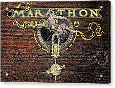 Marathon Motor Cars Acrylic Print by Joseph Sassone