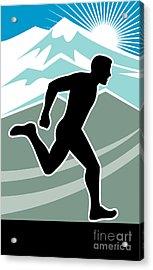 Marathon Runner Acrylic Print